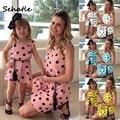 Sehatle 2020 verão novo mini família combinando roupas vestido doce das crianças vestidos rosa bonito casual rua bodycon roupas
