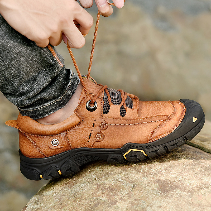 ARUONET Genuine Leather Autumn Men Shoes Plus Size Outdoor Casual Platform Sneakers Non Slip Walking Men Shoes Chaussure De Luxe in Men 39 s Casual Shoes from Shoes