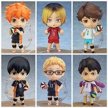 Haikyuu!! Anime voleibol esportes hinata shoyo tobio nendoroids figuras pvc 10cm haikyuu figura de ação modelo brinquedos boneca