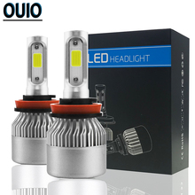 1 Pair Auto Head Lamp S2 Car Headlight Bulbs 72W 6000K H1 H3 H4 H7 H11 H13 HB4 HB3 9006 9012 Cars Styling Automobiles LED Lights