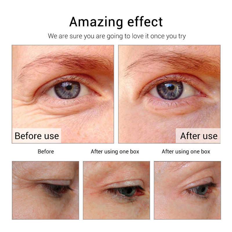 Mengurangi Tekanan Mata Anti-Aging Masker Mata Gelap Lingkaran Bengkak Rumput Laut Anti-Aging Firming Perawatan Kulit Teh Hijau mata Patch 60Pcs