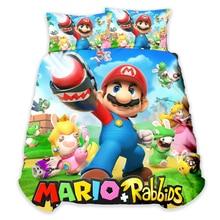 Cartoon Super Mario Bros Duvet Cover Pillowcase comforter bedding sets bedclothes bed Children bedroom decor Dropshipping