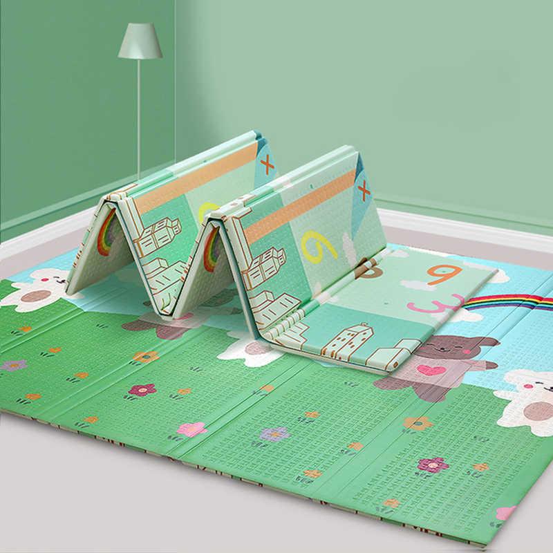 tapis sol enfant pliable bebe tapis de jeu enfants jouets dessin anime double face infantile escalade pad impermeable activite jeu enfants tapis