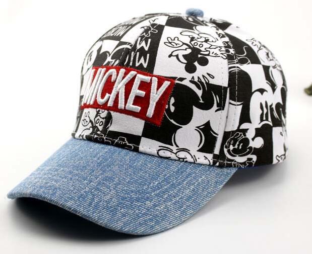1pcs Cartoon New Blue Mickey Fashion Sun Hat Mario Casual Cosplay Baseball Cap Children Party Gifts