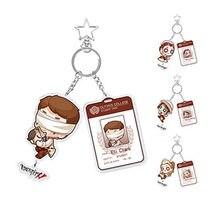 Porte-clés pendentif cadeaux Cos identité V Cosplay, accessoires de jeu de dessin animé Emma Woods/Amily Dair/Marta bertenfield, cadeaux de noël