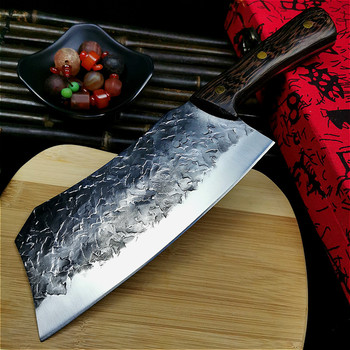 PEGASI Hand-forged high carbon chef's knife slicing knife retro home kitchen knife super fast sharp Japanese knife butcher knife pegasi hand forged all tang sharp bone picking knife high hardness chef sliced knife fish knife outdoor knife hunting knife