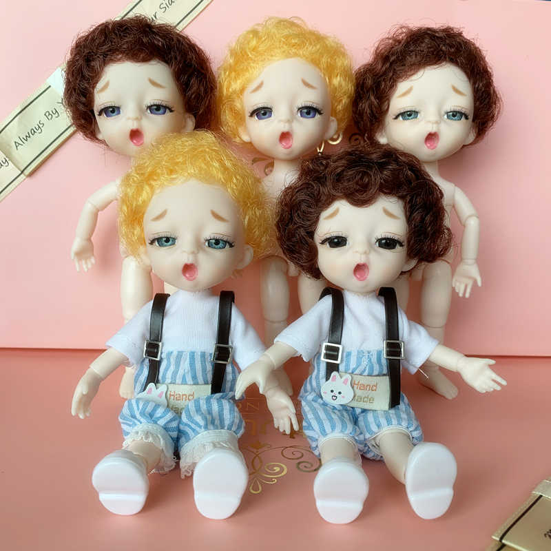 New 16cm Bjd Doll 13 Joint Baby Doll Toy Lovely Sleepy Face Doll Dress Up Toys for Girls Gift Kids Toy