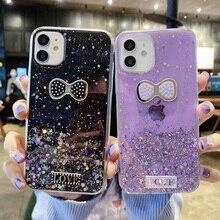 Glitter Case For Samsung Galaxy A50 A52 A72 A32 A51 A71 Case Silicon A12 A21S A20e A02S A70 A31 A30 S8 S9 Plus Butterfly Cover
