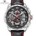 PAGANI Design Avant Sport 3D Große Zifferblatt Quarz Männer Uhr Luxus Militry Armee Schwarz Stahl Uhr Wasserdicht Chronograph Armbanduhren