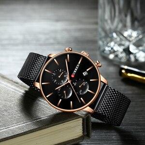 Image 4 - Mens Watches CURREN Fashion Quartz Wristwatch for Men Classic Chronograph Clock Casual Sport  Watch Waterproof Relogio Homem