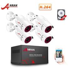 أنران AHD نظام المراقبة 1080P في الهواء الطلق الأمن كاميرا AHD DVR عدة يوم/ليلة الرئيسية فيديو نظام الدائرة التلفزيونية المغلقة مقاوم للماء HDD P2P HDMI