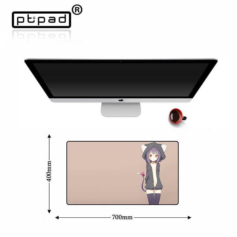 Противоскользящая игровая Сексуальная аниме компьютерная Блокировка края коврик для мыши большая геймерская клавиатура Коврик для мыши натуральный резиновый игровой планшет стол для компьютера коврик