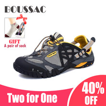 BOUSSAC Sweat-carrying Mountaineering Shoes, Men's And Women's Outdoor Sports Sandals, Hiking Men's Trekking Trail Water Sandal(China)