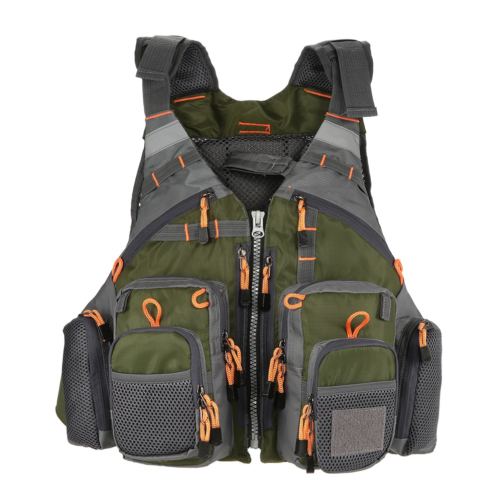 Lixada Outdoor Fishing Vest Men Breathable Safety Life Jacket Swimming Sail Waist Coat Vest Utility Floating Colete Salva-Vidas