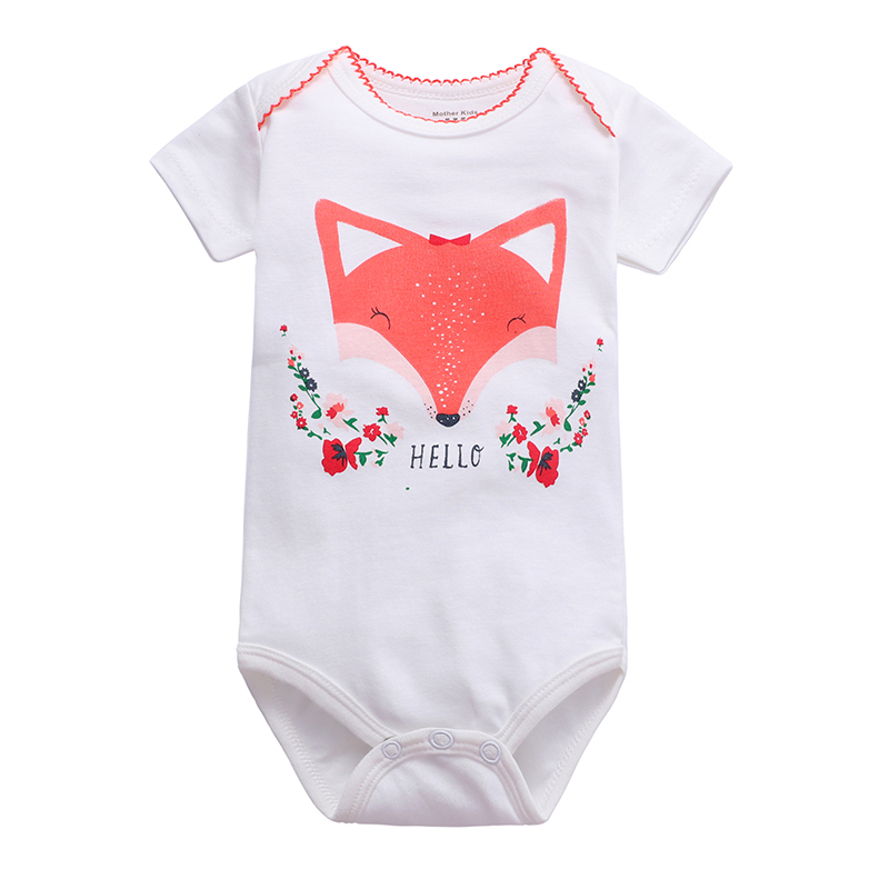 ZWY205 New Summer Baby Girls Boys Romper Short Sleeve Infant Rompers Jumpsuit Cotton Baby Rompers Newborn Clothes Kids Clothing