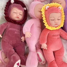 35cm simulation bebe reborn newborn doll Soft Silicone With Cloth Body Realistic DIY education toys kids