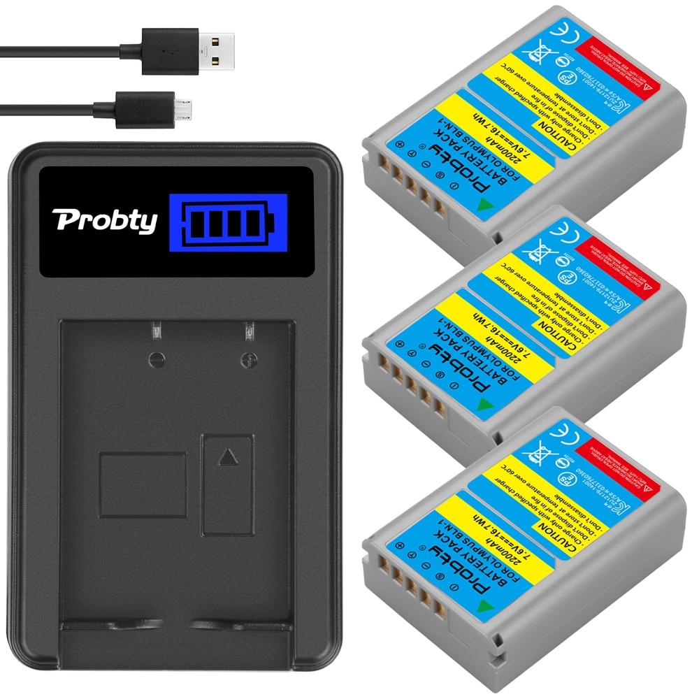 Высококачественный запасной аккумулятор 2200 мА · ч для psbln 1, PSBLN1, ЖК-дисплей, USB, одноканальное зарядное устройство для Olympus и E-mail, с ЖК-экраном,...