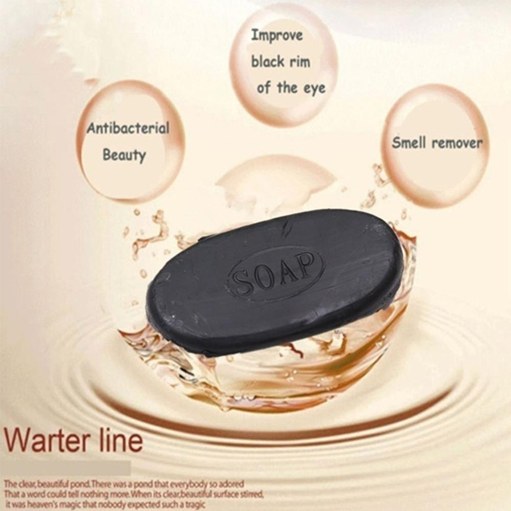 Newest Active Energy Bamboo Tourmaline Soap Black Clear Antibacterial For Ance Face & Body Beauty Healthy Skin Care Soap