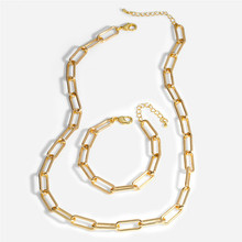Colar pulseira conjuntos de jóias moda feminina corrente cor de ouro cavalo chicote colar e pulseira presente qualidade superior grau