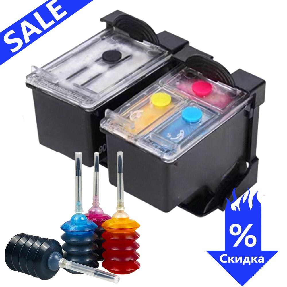 GraceMate 304XL de tinta recargable Kit Compatible para Hp304 Hp 304 Xl Deskjet serie envidia 2620, 2630, 2632, 5030, 5020, 5032, 3720, 3730, 5010