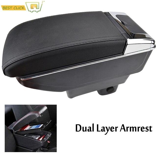 Lagerung Box Center Konsole Leder Dual Schicht Armlehne Arm Rest Tablett Für Suzuki Swift 2005   2020 2006 2007 2008 2009