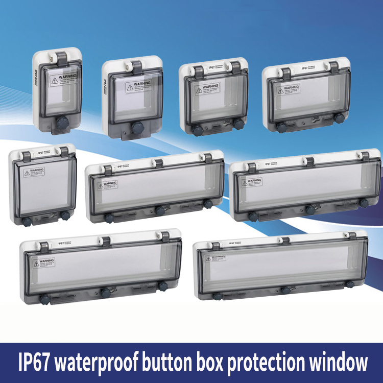 Protect Window Cover Loop Button Waterproof Window Cover Circuit Breaker Protect Shield Switch Window Ip67 Waterproof Box