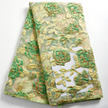 Zhenguiru African Lace Fabric 2021 New Gilding French Tulle Lace Fabric 5 Yards Wedding Sewing Embroidery Nigorian Women A 2357