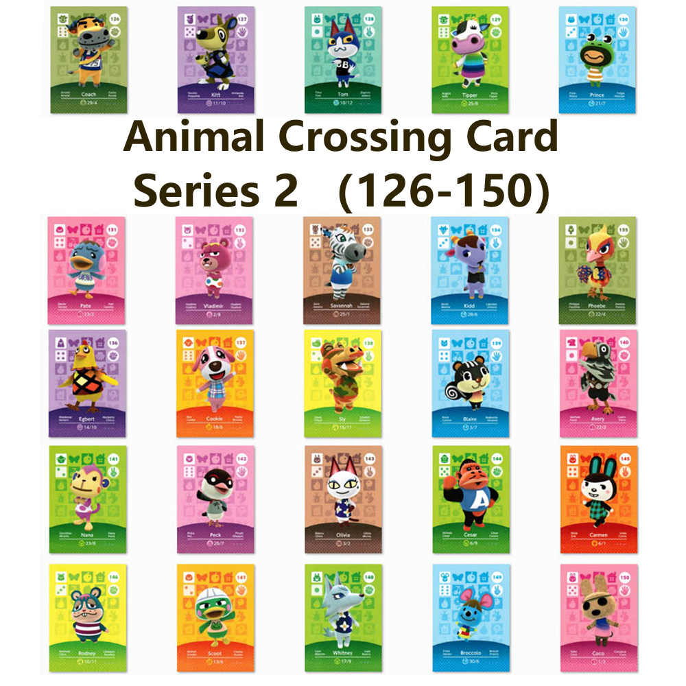 Series 2 (126 To 150) Animal Crossing Card Amiibo Locks Nfc Card Work For NS Games Series 2 (126 To 150)