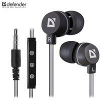 Гарнитура Defender Pulse 453 черный, для Android, вставки