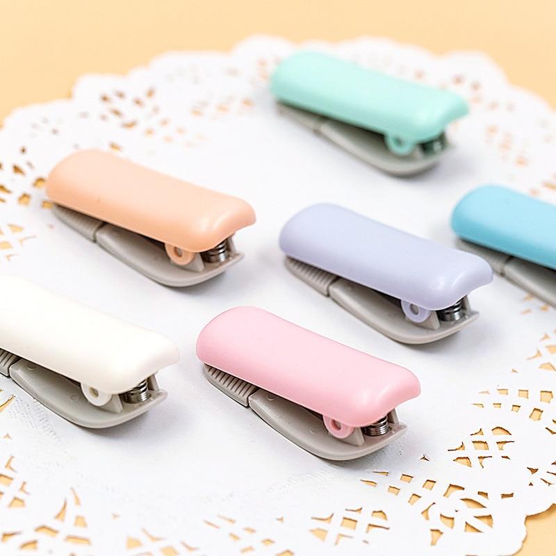 1PCS Cute Creative Stationery Mini Washi Tape Dispenser Kawaii Portable Plastic Office Scotch Tape Cutter School Supplies