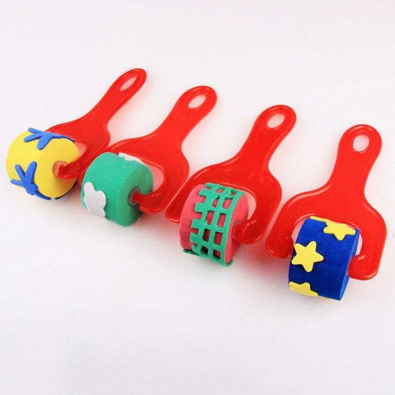 Детский инструмент для рисования пальцев своими руками, штамп с подвижным уплотнением из ЭВА, Цветочная звезда, дом для дошкольного обучени...