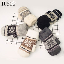 Cute Hedgehog Gloves Thicken Winter Hand Warmer Knitted Wrist Mittens Wool Fingerless Cartoon Lovely Hands Warm Acce