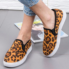 все цены на Women Flat Shoes Plus Size 43 Shallow Wear-resistant PU Leather Shoes Women Rubber Leopard Shoes Woman Loafers онлайн