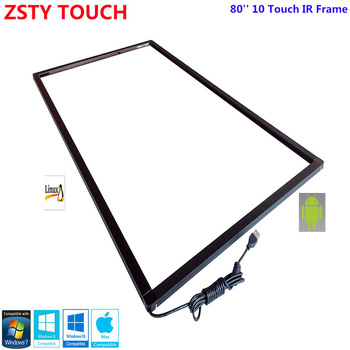 ZSTY Touch 80 inch IR touch screen overlay, 10 points 15 points IR touch screen panel for monitor,Infrared touch screen frame