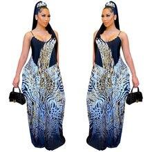 Nova moda cinta imprimir solto sexy longo maxi vestido feminino casual festa clube vestidos longo