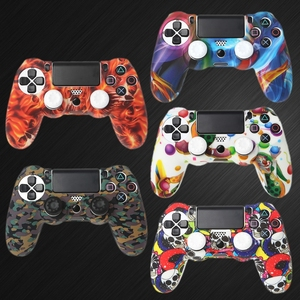 Image 2 - Silicone Gamepad Skin Grip Cover Protector Case + 2 Caps Kit For PS4 Controller Retailsale