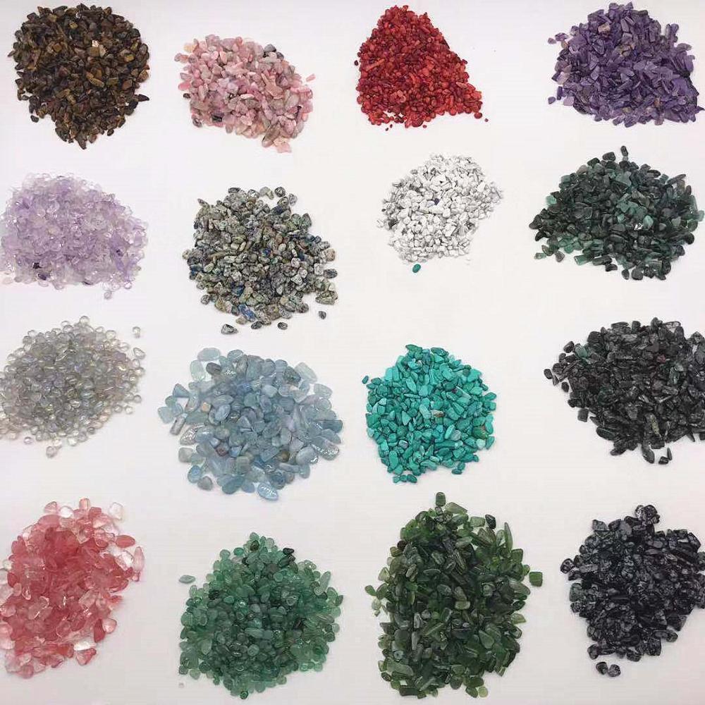 100 גרם\שקית מעורב קוורץ קריסטל סטון רוק חצץ נפילה אבנים מינרלים עבור אקווריום גן קישוט