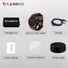 Lemfo lem12 lem12 pro relógio inteligente acessórios cabo de carregamento banco potência protetor de tela cinta para lem12