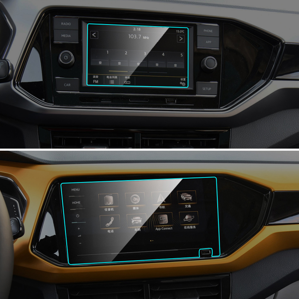 Car GPS Navigation Screen Protector For Volkswagen VW T-Cross Auto Interior 9H Tempered Glass Protective Film Car Accessories