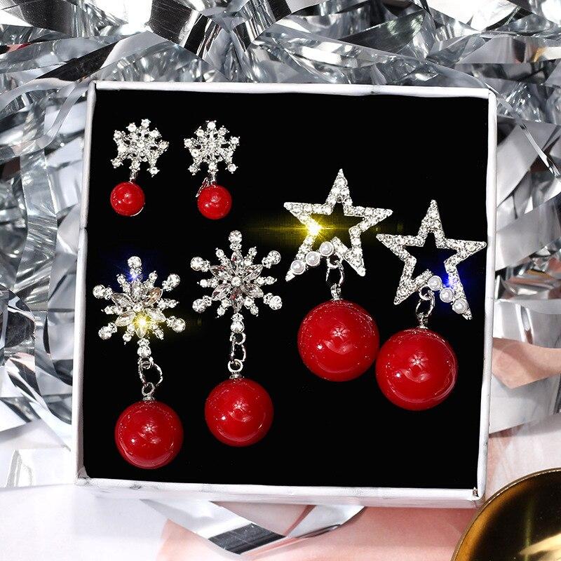 hot sale new fashion drop earrings bohemian rhinestone crystal plush dangle for women drops