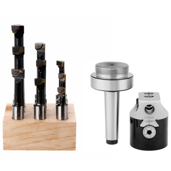 1 Set Taper Collet Chuck Holder Lathe Milling Cutter MT2 Boring Head Tool Holder High-carbon Steel Cutting Machine Adapter