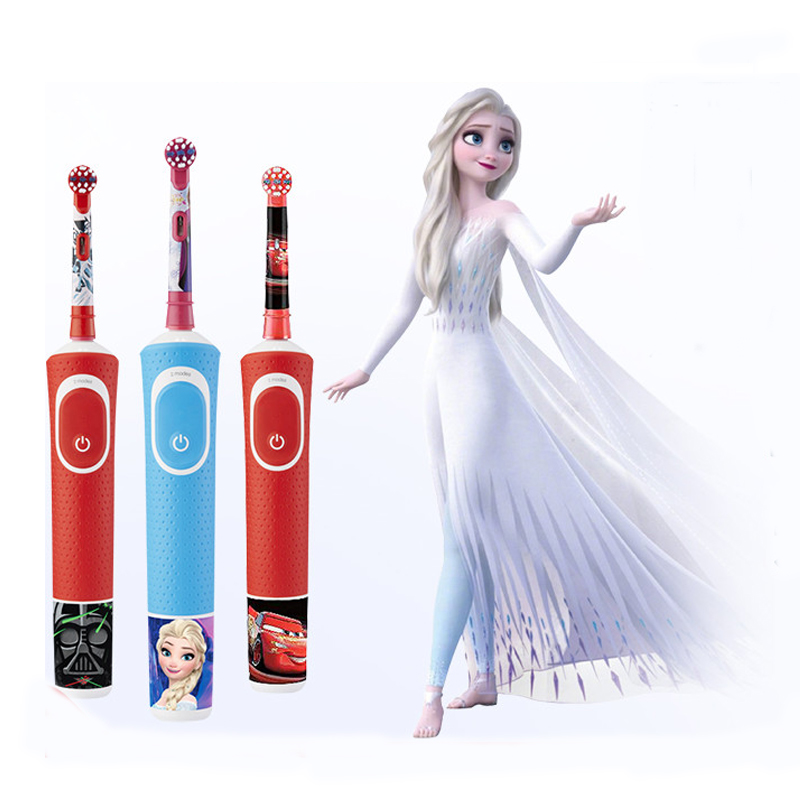 Oral B Electric Toothbrush for Children Soft Bristles 2 Modes Gum Care 7600s/Mins Rotation Inductive Charging Kid Tooth Brush image