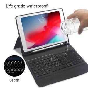 Image 4 - 7 colores Teclado retroiluminado funda para iPad Air, iPad Pro 9,7, 2018, 2017 1 2 5th 6th Pro 10,5 3 11 Smart teclado Bluetooth para iPad Pro 11 pulgadas 3 2019 casos Shell
