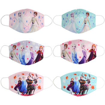 2020 Adult Kids Cotton Elsa Anna Masks Cartoon Print Boys Girls Dustproof Earloop Anti-dust Anti-Pollution Face Mouth Mask