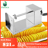 Spiral Potato Slicer Twister Twisted Tornado Potatoes Cutter French Fries Cutting Chips Machine Kitchen DIY Cooking Tools