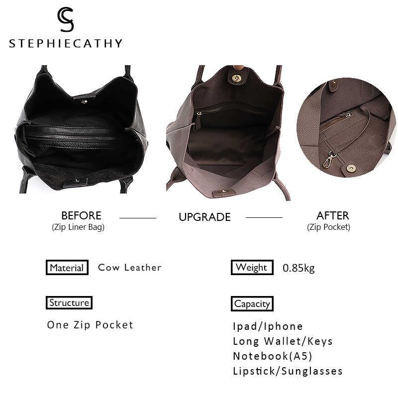 Sc marca feminina couro genuíno sacos de ombro causal do vintage macio pele bolsa compras balde forro saco alta qualidade