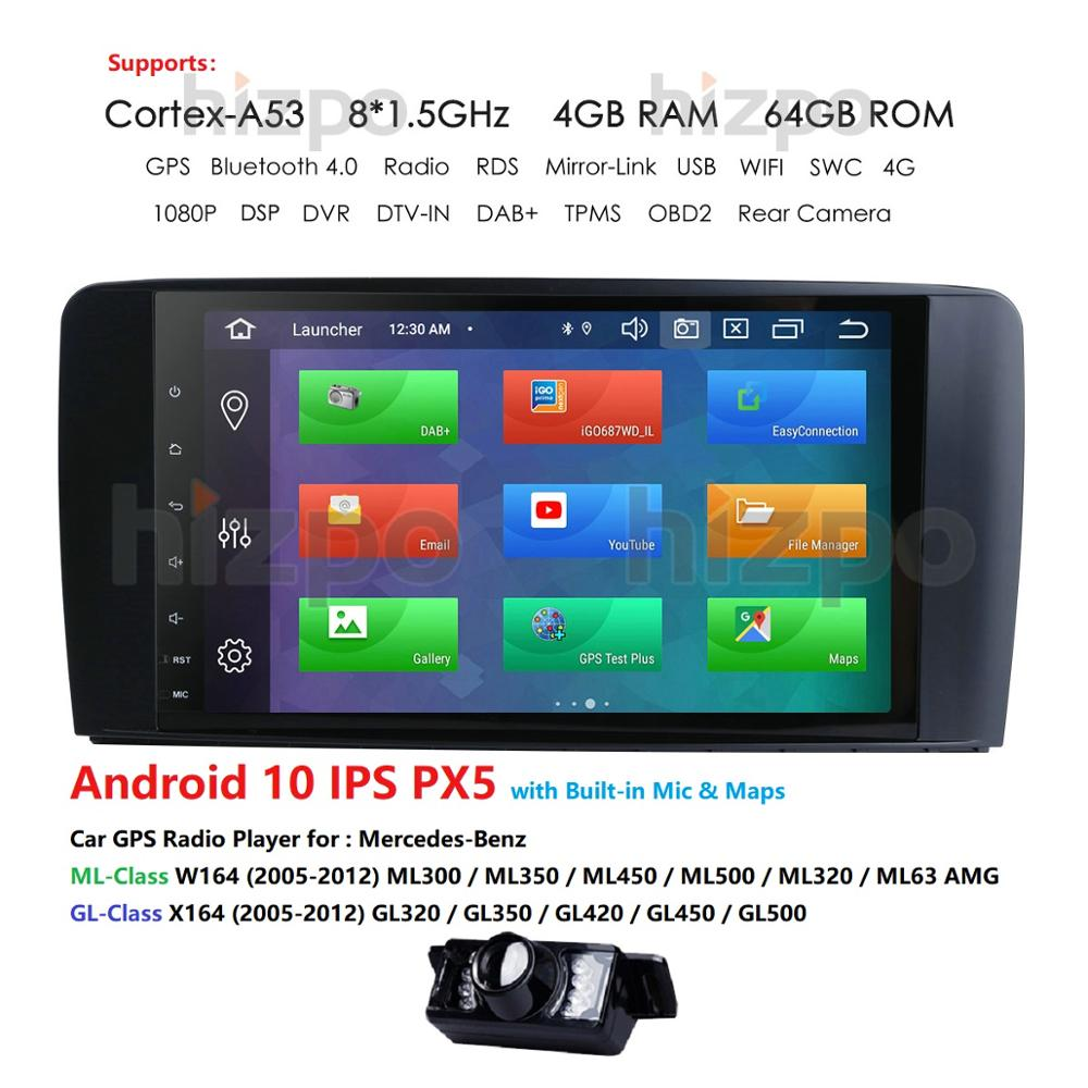 4+64 Android 9.0 CAR AutoAudio player gps FOR BENZ <font><b>ML</b></font> 320/<font><b>ML</b></font> <font><b>350</b></font>/<font><b>W164</b></font>(2005-2012) Multimedia navigation head device unit receiver image
