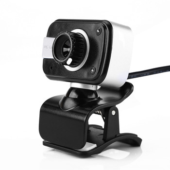 HD USB Webcam with 2 Night Vision LEDs and Built-in Dual Microphone For Desktop/Laptops