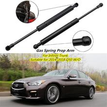 2Pcs Car Trunk Lift Supports Struts Shocks Car Rear Door Support Rod For Infiniti Q50 W / O Spoiler 2014 2018 Accessories
