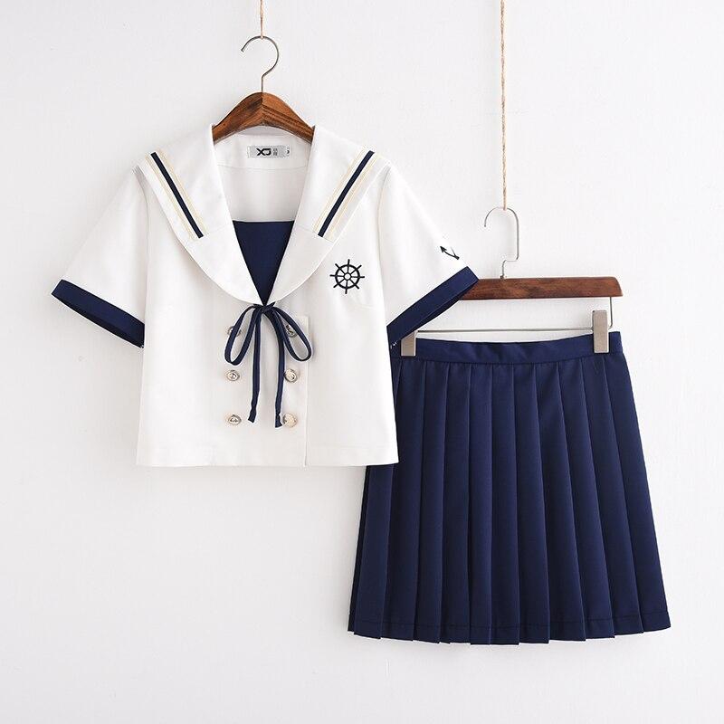 Nautical Girl School Uniform Top JK Uniform For Girls Japanese Korea School Wear Uniform Student Sailor Uniforms